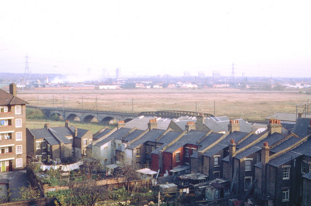 View from Valley House, Harrington Hill, Clapton, E5, 1971