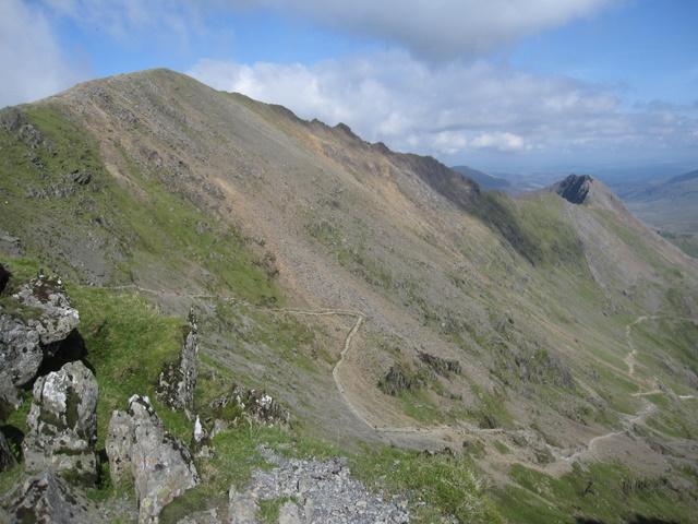 View towards Garnedd Ugain and Crib Goch