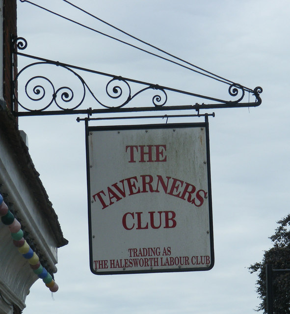 The Taverners Club Sign