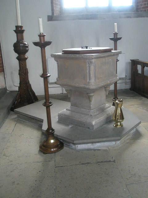 The font at St James, Milton