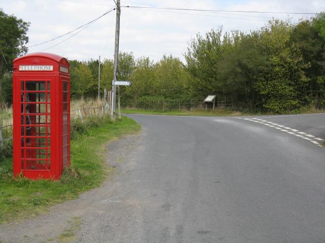 Menithwood - Phone Box & Lane Junction