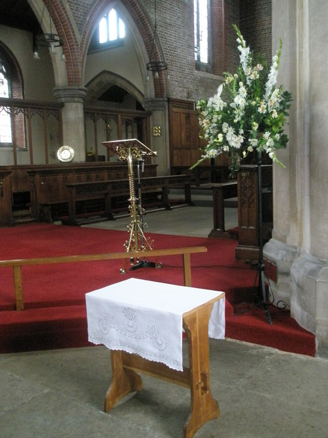 The lectern at St James, Milton