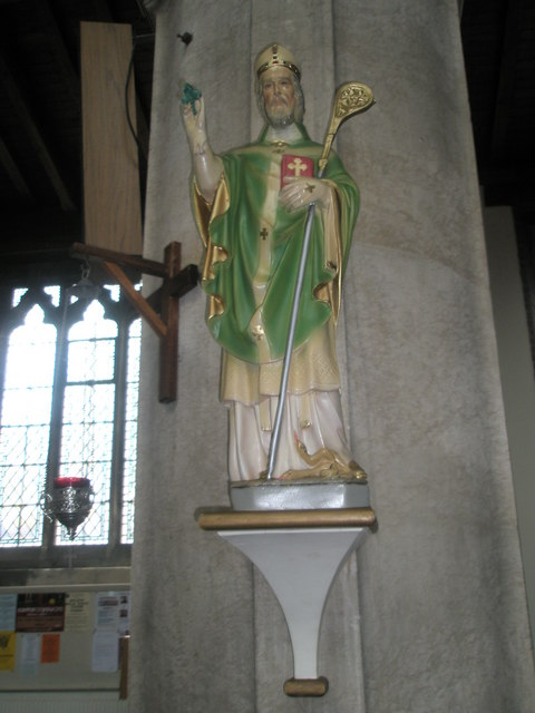 Statue of St Patrick within St James, Milton