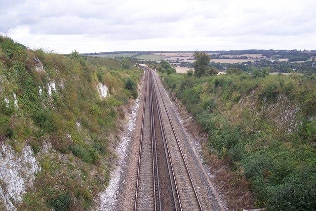 Railway line to Canterbury East