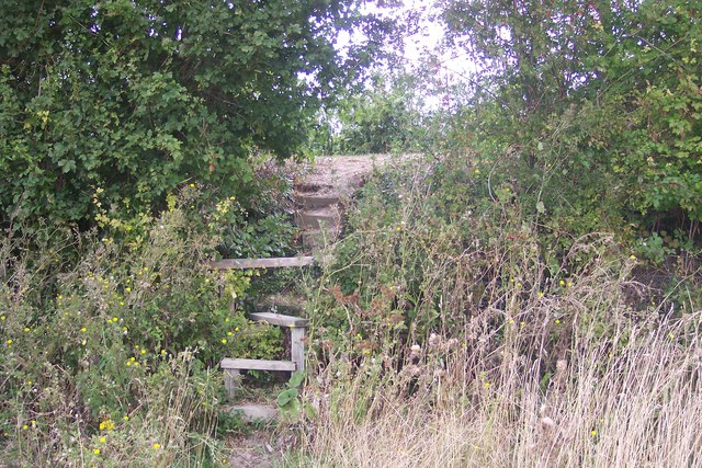 Steps and Stile towards Nickle Farm orchard