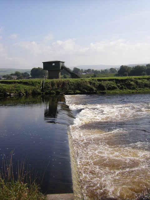 Weir on River Lune