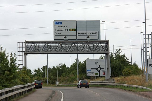 B255, A2 & A296 junction