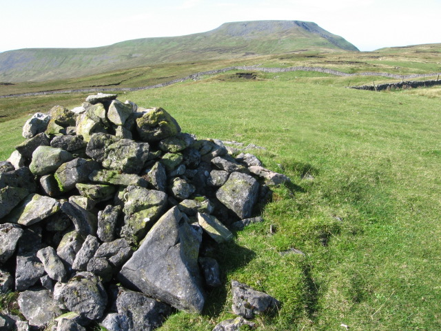 Cairn on Lord's Seat towards Ingleborough