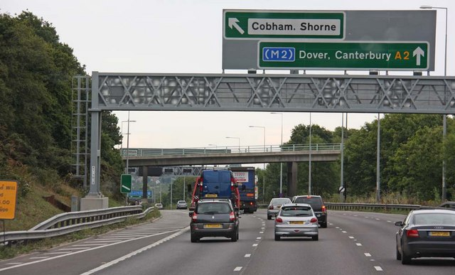 Exit for Cobham & Shorne