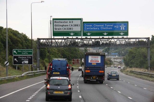 Approaching M2 Motorway