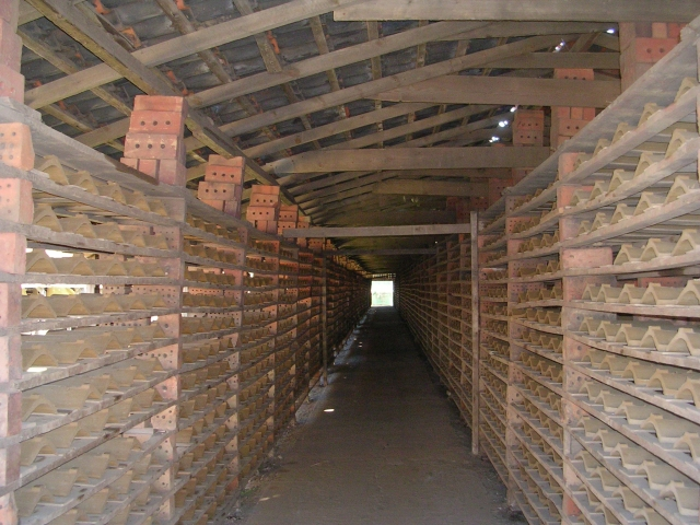 Hoe Hill Tile Works - Inside a Drying Shed