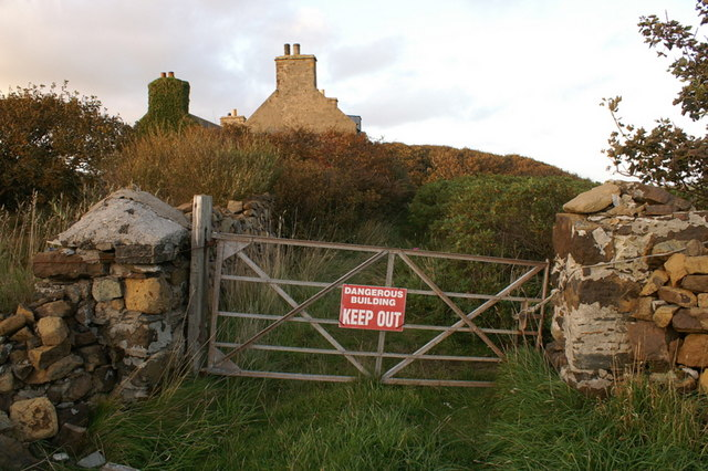Entrance gate to Halligarth, Baltasound