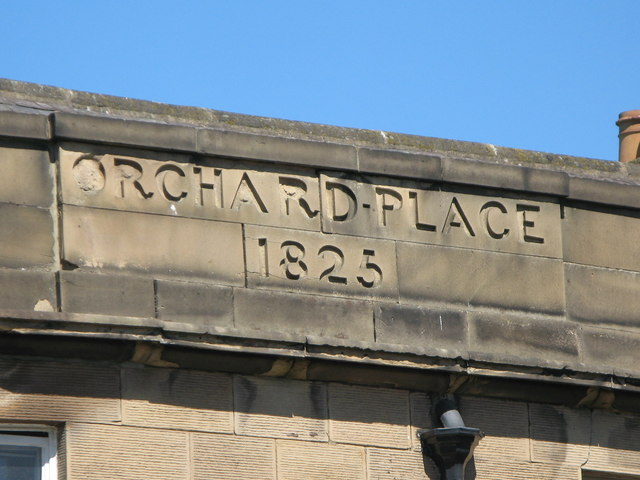 Date stone(s) on building in Orchard Place