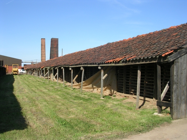Hoe Hill Tile Works - The outside of a Drying Shed