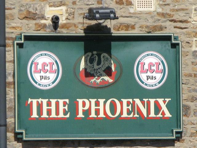 Sign for The Phoenix, Priestpopple