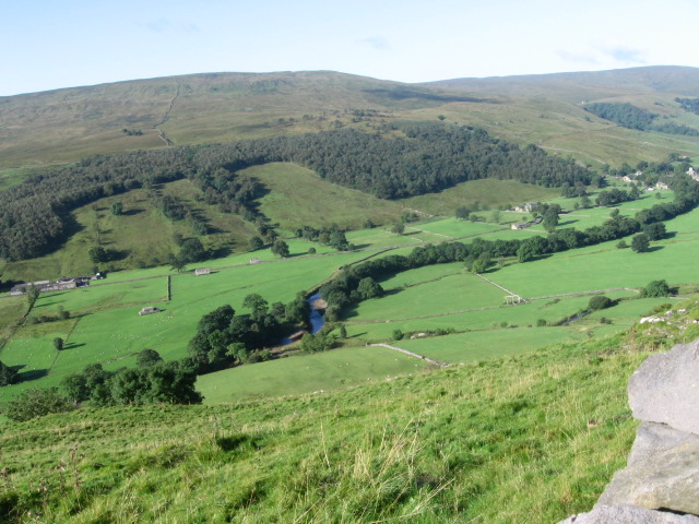 Wharfe Valley from Buckden Rake