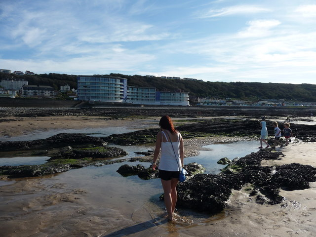 Westward Ho! : Sandy Beach & Rock Pools