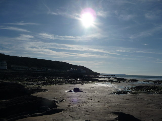 Westward Ho! : Sandy Beach, Rocks, Coastline & Sun