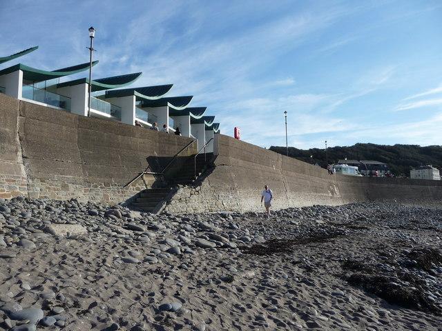 Westward Ho! : Stony Beach, Wall & Steps