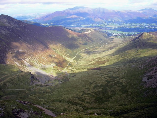 Looking down Coledale from Eel Crag