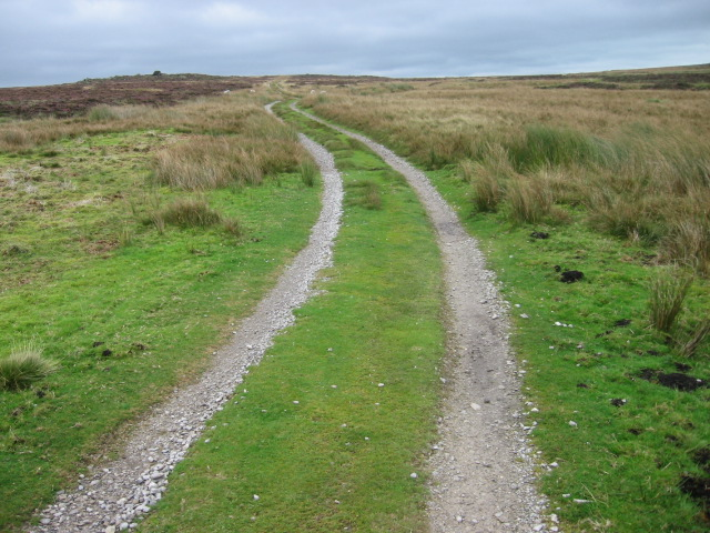Track at Brown Bank on Barden Moor