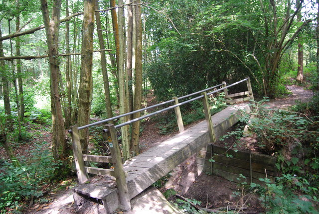Footbridge on the Tunbridge Wells Circular Path in Chase Wood