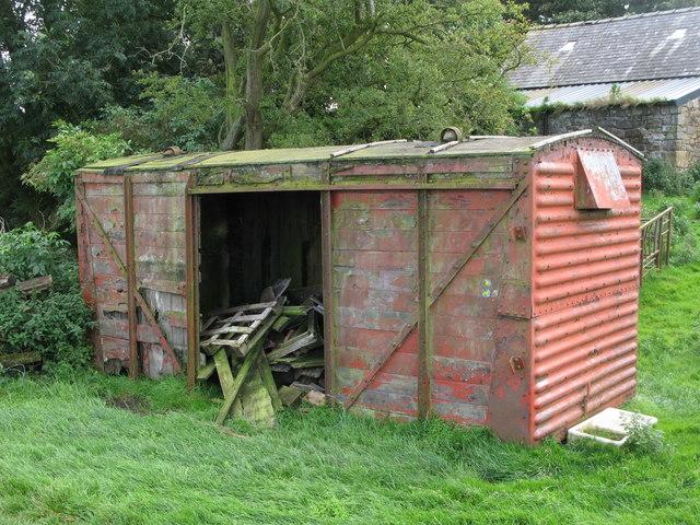 Old railway goods van, Wallend Farm, near Greenhead