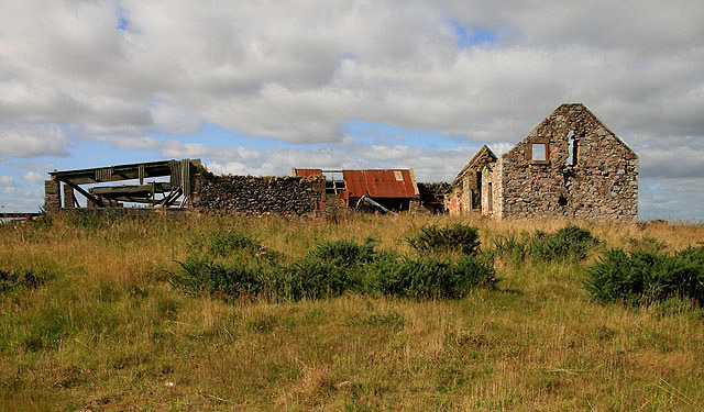 The ruined buildings at Catmoss