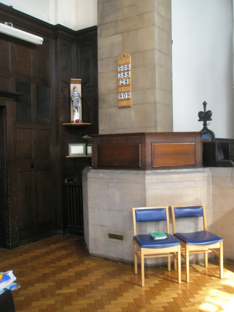 Unusual pulpit at St Wilfrid's, George Street