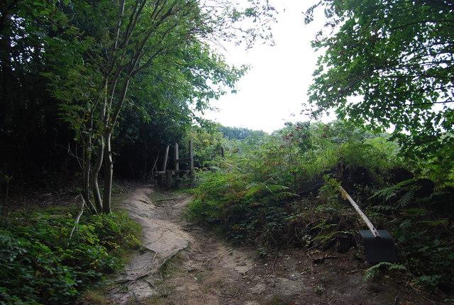 Tunbridge Wells Circular Path - exiting Chase Wood