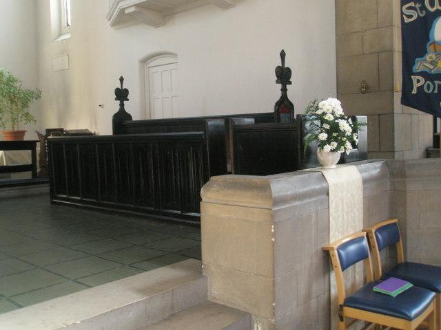 Choir stalls within St Wilfrid's, George Street