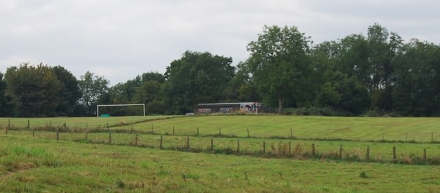 Football pitch & pavilion near Frant