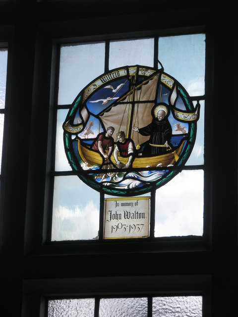 Stained glass window on the south wall at St Wilfrid's, George Street (2)
