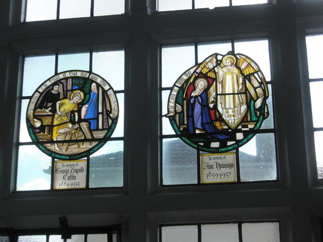 Stained glass window on the south wall at St Wilfrid's, George Street (1)
