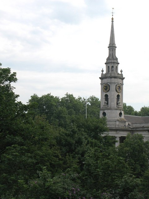 The spire of St. Paul's Church, Deptford
