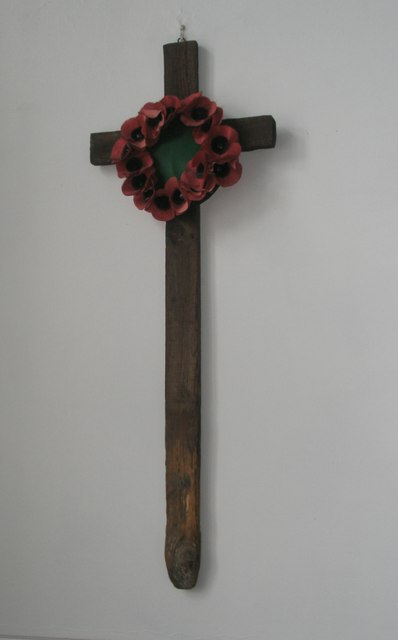 Cross retrieved from a Great War Cemetery within St Wilfrid's, George Street