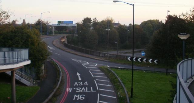 A34/M6 interchange Great Barr