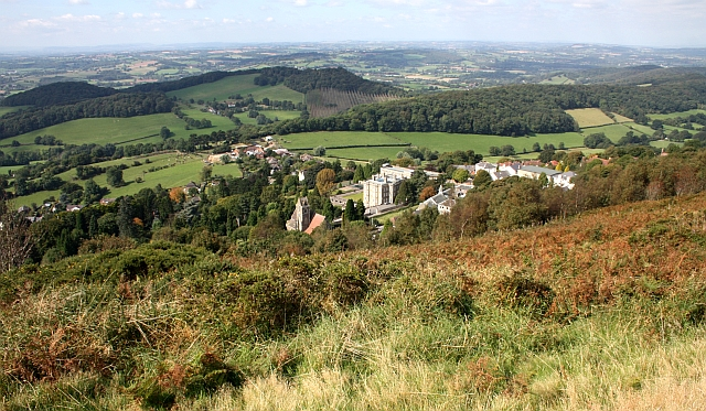 View from Sugarloaf Hill over West Malvern