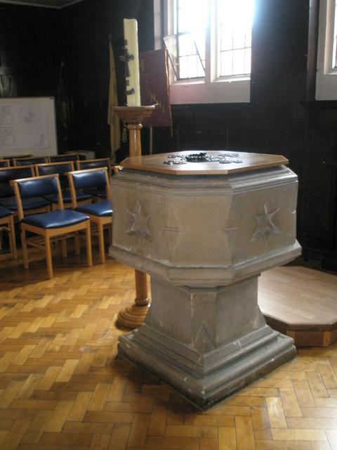 The font at St Wilfrid's, George Street
