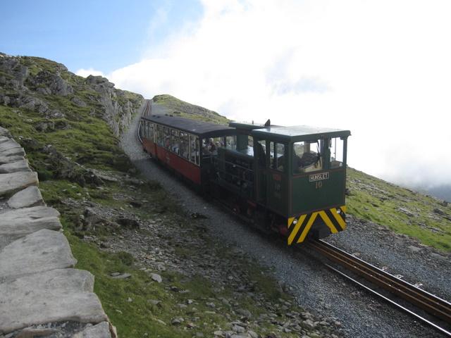 Hunslet locomotive number 10 'YETI' on Yr Wyddfa