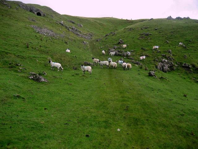 Pennine Way climbing Peeping Hill