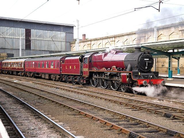 Steam locomotive Leander in Carlisle Station