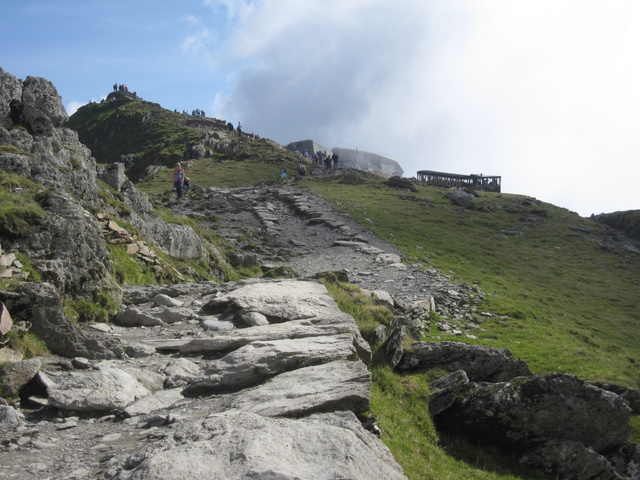 Yr Wyddfa - The summit, the cafe, and the train