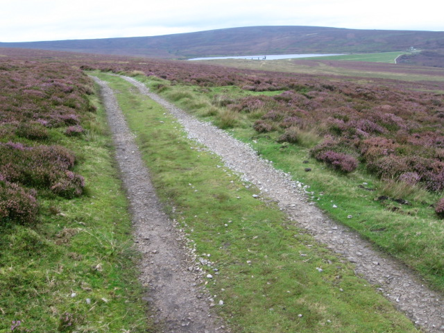 Footpath on Barden Moor near Upper Barden Reservoir