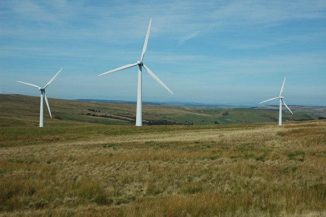 Wind turbines, Carno Wind Farm