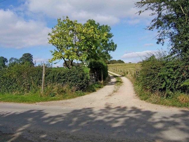 Access road to Compton Park Farm