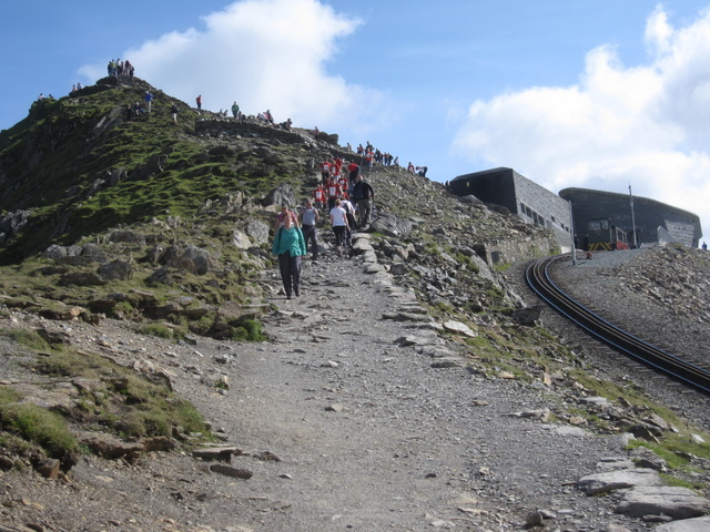 Yr Wyddfa - The summit and the cafe