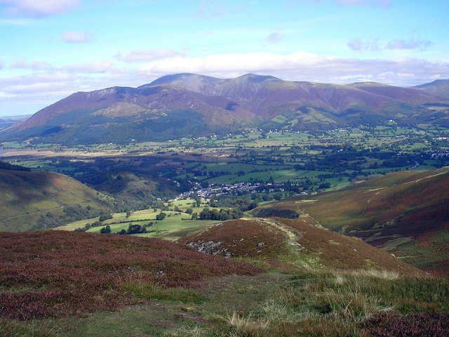 Looking to Braithwaite from the summit of Stile End