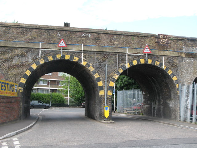 Railway bridge over Edward Street, SE8