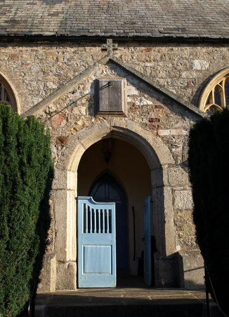 Church porch, Dunsford